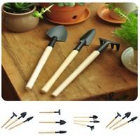 Free Shipping Mini Tool Garden Hoe 1 Set = 3 Pcs (3pcs/lot) Small Shovel Sppittle Tools