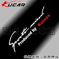 car sticker car stickers car headlight reflector lamp eyebrow posted renault koleos -