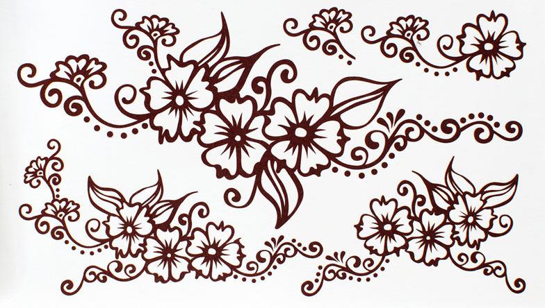 aterproof Tattoo Stickers Princess Crown Drawing Tattoo