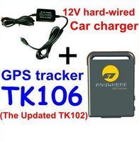 Mini spy gps gsm gprs tracker tk106 +hard wire charger