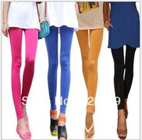 Wholesale,Hot Sale,New 2013 Fashion Design Silk Leggings Women Thin Skinny Candy Color Leggings Autumn-Winter Pants Free Ship