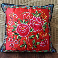 National trend pillow chinese style embroidery kaozhen pillow miaoxiu pillow cover national trend embroidered pillow core