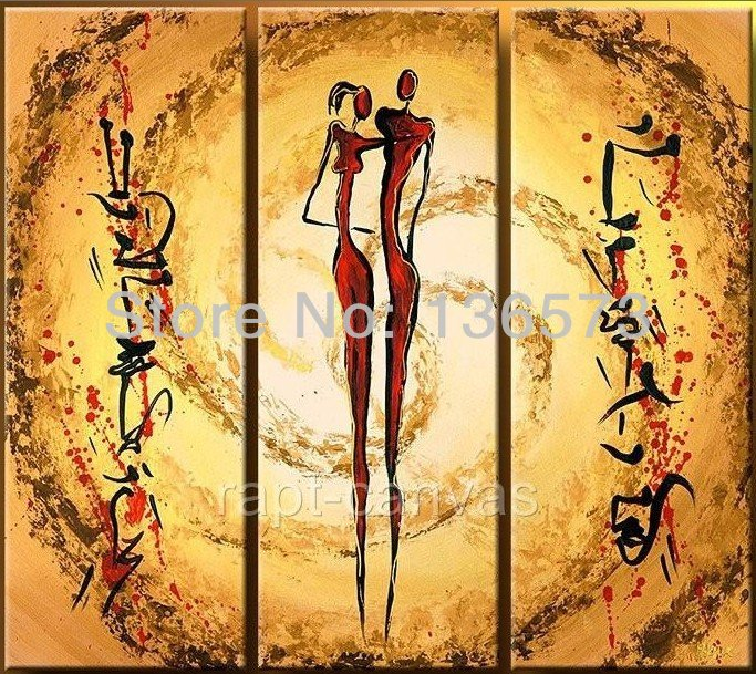 100 Hand Painted Nude Lovers Sunshine Space Landscape Wall Home Decor Large Modern Abstract Huge Art Oil Painting On Canvas