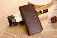 Male medium-long genuine leather wallet card holder suit folder wallet male long design cowhide casual wallet