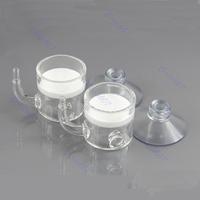 1 Set CO2 Flat Aquarium Tank Pollen Glass Diffuser New Free Shipping