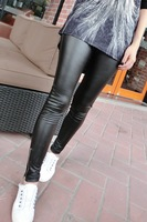 Fanny 2013 autumn fashion normic zipper elastic PU pencil skinny legging pants