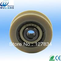 Hot sale 608ZZ Low noise aluminum window & door pulley with bearing  garage door roller