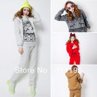 Free\Drop Shipping M,L,XL 2013 winter women's thickening sweatshirt casual Hoodie set women sports set women's 2A168363