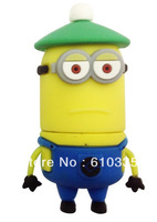 USB110 Wholesale Hot sale Full Capacity 4GB/8GB/16GB/32GB/64GB  Despicable Me 2  USB 2.0 Flash Memory Drive Stick/Pen/Thumb