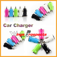 1000pcs Single USB Car Charger 5V 1A 8 Colors Available Free DHL!