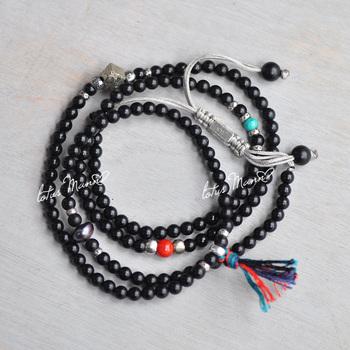 лотоса Манн скраб 4 чистого серебра кольцо малых серий бисера ожерелья браслета.