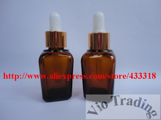 mini glass bottles,25ml amber essential oil parfume vials, medicine eye aluminum droppers,cosmetics containers,oil pipe,lotion(China (Mainland))