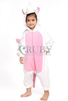 Kigurumi Pajamas All In One Pyjamas Animal Suits Cosplay Costumes Children Garment Cute Cartoon Pink Unicorn Animal Onesies Kids