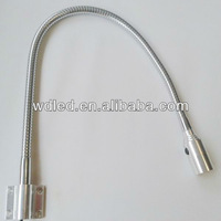 1W Gooseneck Swing Arm for wall lamp/flexible hose gooseneck snake led wall lamps light 110v/220v