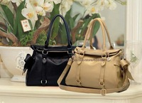 2013 New arrival female PU fashion handbag one shoulder bag bowknot casual totes free shipping