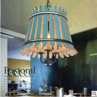 Vintage wood chandelier chandelier bedroom study pastoral chandelier restaurant