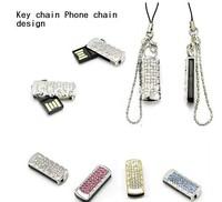1-32GB Rhinestone Diamond Memory Disk USB Flash Drive Mini Flash Memory U Disk Bling USB Memory Disk Free shipping