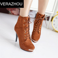 Large size women's boots New Europe Tanks shoes ankle boots Martin boots Zipper sequins Waterproof lace Women designer leather