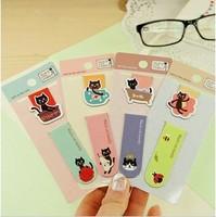 Free shipping Korea stationery magnetic bookmark fashion cartoon cat bookmark