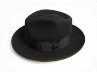 1 pcs free shipping Wool fedoras quinquagenarian male cap woolen large brim hat  fedora hat