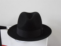 1 pcs free shipping Wool fedoras wool felt hat the elderly warm hat  fedora hat large size wool hat