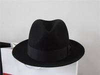 1 pcs free shipping Wool fedoras wool felt hat the elderly warm hat  fedora hat large size wool hat