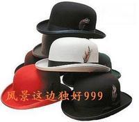 1pcs free shipping Quality geniue wool fedoras cap derby hat unisex hat  ladies cloche felt hat