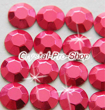 1440 pieces Fuchsia 2mm 6ss ss6 Faceted Hotfix Rhinestuds Iron On Round Beads new Aluminum Metal Design Art (u2m-Fuchsia-10 gr)