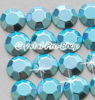 1440 pieces Light Aquamarine 2mm 6ss ss6 Faceted Hotfix Rhinestuds Iron On Round Beads new Aluminum Metal (u2m-Lt Aqua-10 gr)