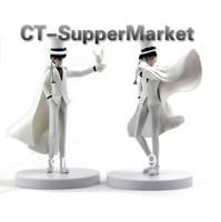 Free shipping 2 pieces/set Japanese Anime Detective Conan Series Kaitou Kid PVC Figure Toy for Collection