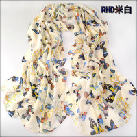 (Min order is $10,Mix order,Free Shipping)Hot Fashion Autumn Scarves Butterfly Velvet Chiffon Scarf Shawl Scarf For women