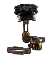 F06656 2-Axis Aluminum Brushless Gimbal Camera Mount PTZ w/ Motor for Gopro Hero 2 3 FPV Multicopter + Freeship