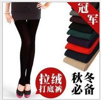 Free shipping 2pcs warm leggings for women 2013 fashion girls multicolour single tier foot pants spring fall winter trousers
