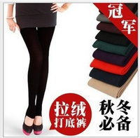 Free shipping 2pcs warm leggings for women 2013 fashion girls multicolour single tier foot pants spring fall winter trousers