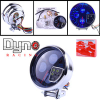 "5"" TYPE R DIGITAL 4-IN-1 RPM GAUGE / TACHOMETERONSTER SUPER WHITE LED GAUGES/AUTOGAUGE"