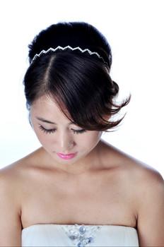 2013 Free Shipping New Arrival  Clear Tiara Headpiece Headband Bridal Wedding Hair Accessories Crystal Crown