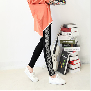 2013 cotton print flower ankle length legging autumn and winter women trousers 120g