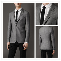 201 Custom Free shipping new  fashion (Gray jacket +Black pants ) Mens Casual slim fit Business Formal Suit  for men A184