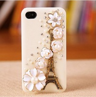 Free Shipping,Case For Iphone 4/4s,Tower flowers pattern cell phone protective cover, mobile phone shell