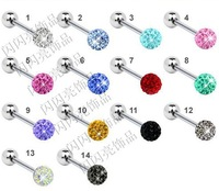 1 pair of Multi   Gem Ferido Tragus Cartilage Helix Piercing choose your own color