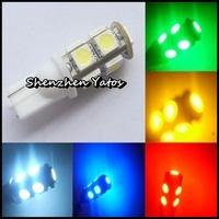 Factory Sale 300pcs T10 9 SMD 5050 Wedge Signal 194 W5W 9 LED Car Light Bulb Lamp