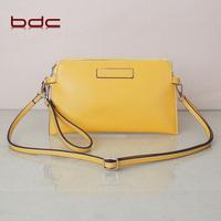2014 yellow small  fashion bags female clutch messenger bag cowhide  bags envelope  shoulder bag