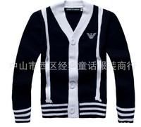 Children cardigan boys striped sweater cardigan baby 1-5T