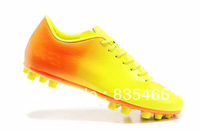 Free Shipping 2013 CR Football Boots PU/Leather Made Men's Soccer Shoes In 2 Colors For Outdoor Play Ronaldo Football Boots