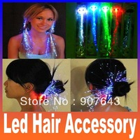 LED tail light headdress fiber optic Christmas ornaments glow LED accessories wig tire luminous Halloween club bar Free shipping