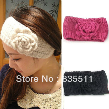 Women Ladies Big Size Knit Crysta Headband Lady Crochet winter Ear Warmer Headwrap hairband