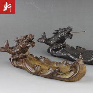 Antique ceramic arowana incense holder furnace incense stove santalwood incense ceramic at home decoration crafts ashtray