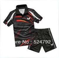 free shipping ! New 2013 Butterfly Men Badminton /table tennis Shirt/Shorts set
