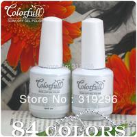1 set 15ml Soak-Off Nails UV Gel Polish Base Coat & Top Coat soak off gel nail polish Free shipping