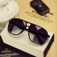 Free Shipping Fashion vintage star l13-1 male sunglasses big black large sunglasses box